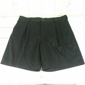 Nike Golf Shorts Casual/Dress Pleated Black Sz 42